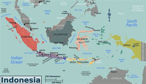 map indonesia indonesien physik karte