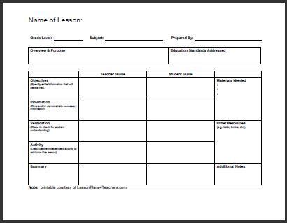 free lesson planner template daily lesson plan template 1 www lessonplans4teachers