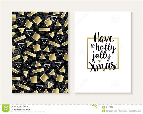 Retro 80 S Card Templates by Merry Card Set Retro Gold 80s Pattern Stock
