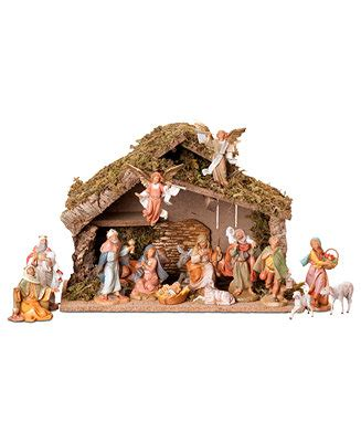 roman fontanini 16 piece set nativity scene holiday lane