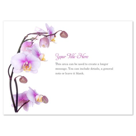place card templates free orchid purple orchids invitations cards on pingg