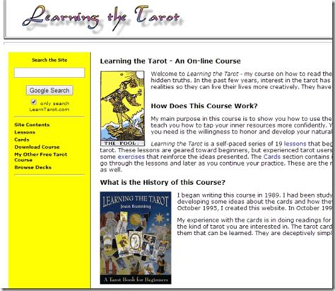 learning the tarot a 5 websites to learn tarot card reading online