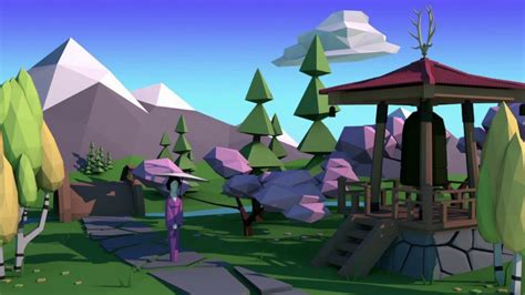 blender 3d landscape tutorial blender 3d low poly landscape sakura tutorial