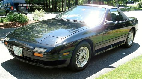mazda convertible black 1988 mazda rx 7 convertible 2 door black with gray