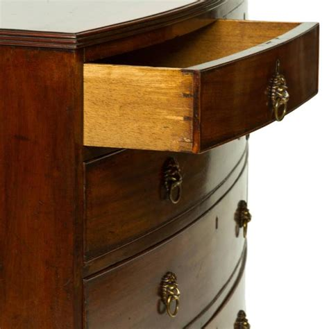 Bow Front Chest Of Drawers by Georgian Mahogany Bow Front Chest Of Drawers Circa 1780