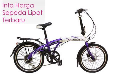 harga sepeda lipat terbaru murah 2017 tabloidharga daftar harga sepeda lipat delta twist viva edisi terbaru