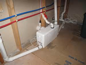 basement toilet systems saniflo product release herndon plumbing installer