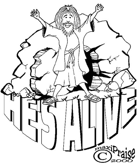 25 Religious Easter Coloring Pages   Free Easter Activity