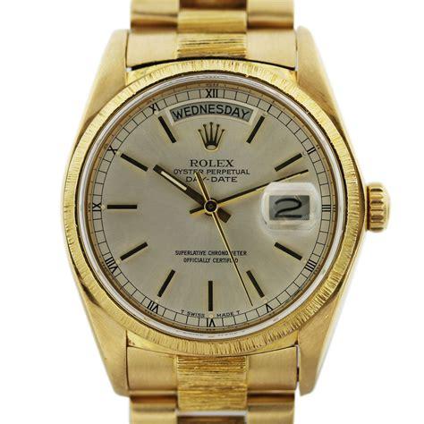 Rolex Presidential 18078 Bark Finish 18k Gold Mens Watch Boca Raton