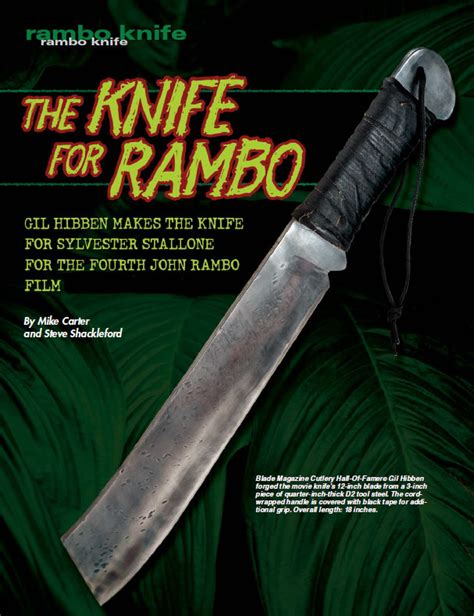 when was rambo 4 made make it crude how gil hibben created the rambo iv knife