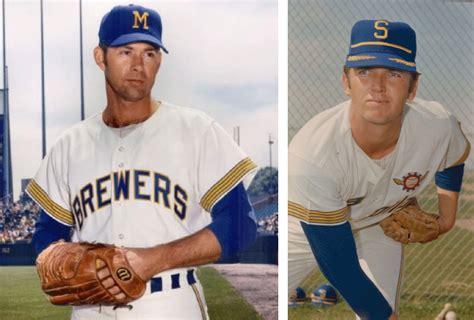 seattle pilots baseball uniform borchert field back in blue