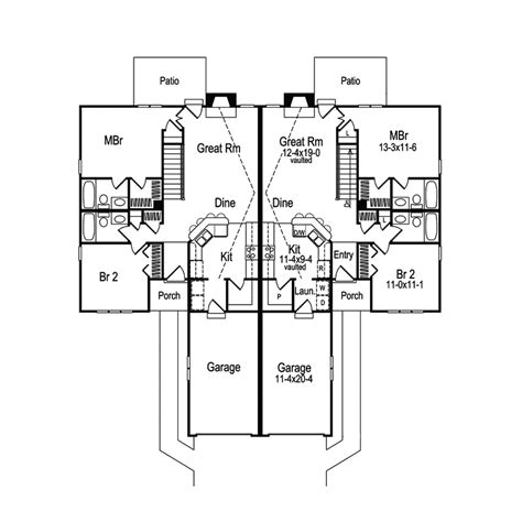 multi family house plans duplex highland multi family duplex plan 007d 0025 house plans
