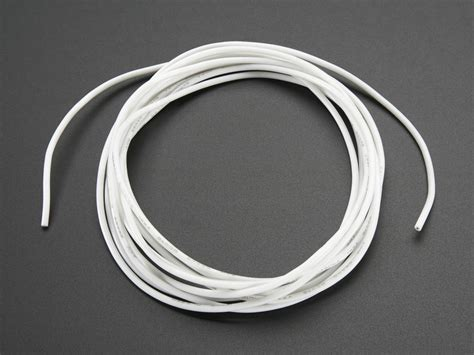 silicone cover stranded wire 2m 26awg white id