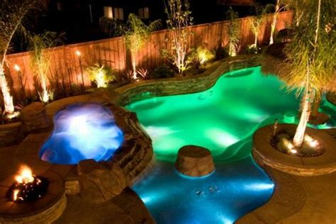 Backyard Pool Lighting Backyard With Led Pool Lighting Inground Pool Lights