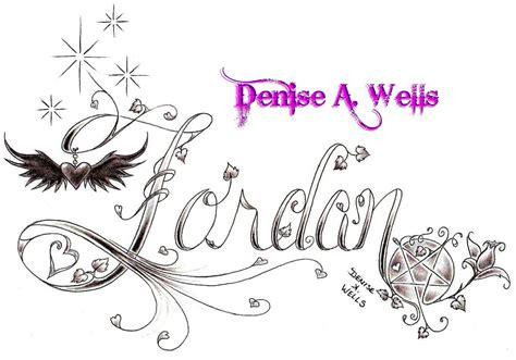 tattoo lettering vines jordan tattoo design by denise a wells i have always