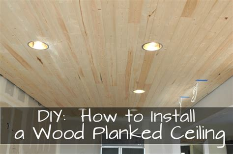 Installing Wood Plank Ceiling Over Popcorn