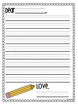 great of writing paper creative elementary letter writing paper template also
