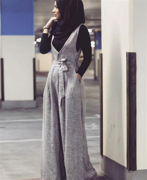 Rok Maxi Skirt Wanita Gucci Skirt grey jumpsuit black shirt black scarf islamic