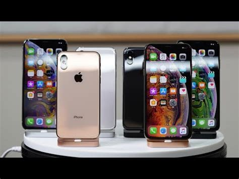 iphone xs iphone xs max hands  review  colors youtube