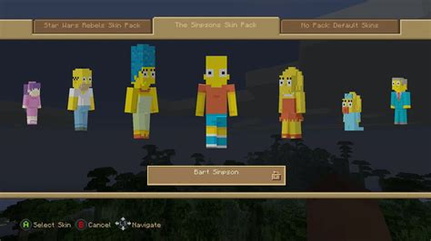 minecraft console minecraft console quot the simpsons skin pack quot review