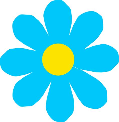 flower clipart bright blue flower clip at clker vector clip