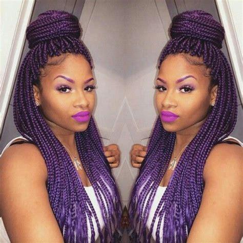 1000 ideas about purple box braids on pinterest box 1000 ideias sobre purple box braids no pinterest