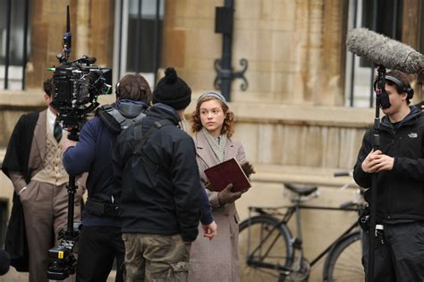 stephen cbell moore and sophie cookson sophie cookson filming red joan filming in cambridge