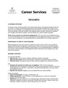 College Resume Objective Exles by Sle Resume Objective For College Student 068