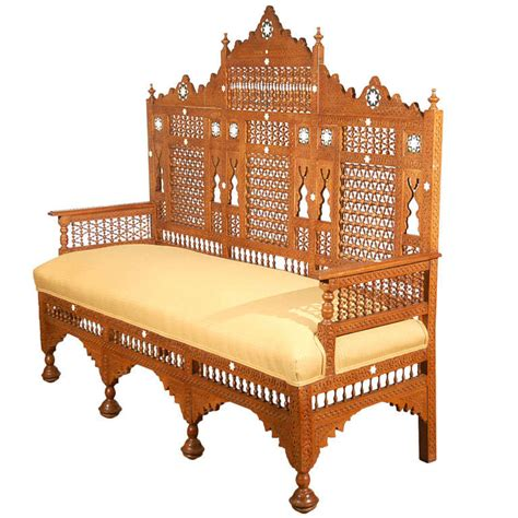 Middle Eastern Furniture by Middle Eastern Syrian Arabian Style Settee At 1stdibs