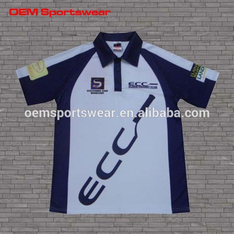 free design jersey free design logo pattern sublimated cricket jersey for