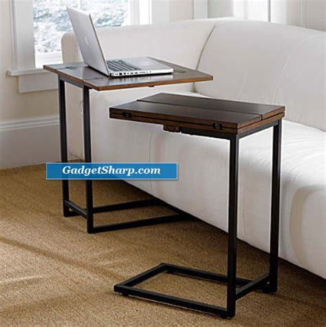 sliding sofa table convenient slide sofa tables gadget sharp