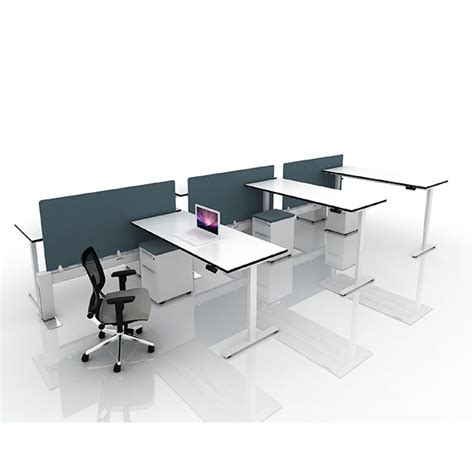 stand alone desk my hite sit stand desk from cubicle by design