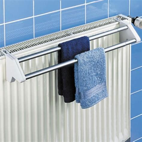 Radiator Towel Rack Bath Radiator Clothes Towel Rail Rack Dryer Airer 2 Bar Ebay