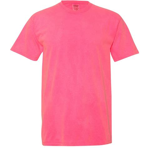 comfort colors neon pink comfort colors 1717 garment dyed heavyweight ringspun