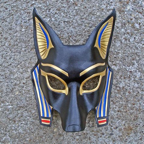 printable anubis mask egyptian jackal mask anubis handmade leather mask