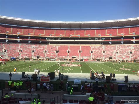 bryant denny stadium student section lower level sideline bryant denny stadium football