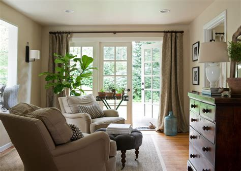 patterned drapes in living room elegant small recliners trend seattle traditional living