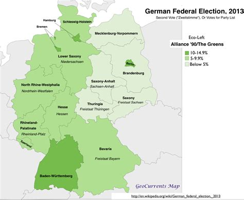 Germany Address Finder Geographical Patterns In The German Federal Election Of