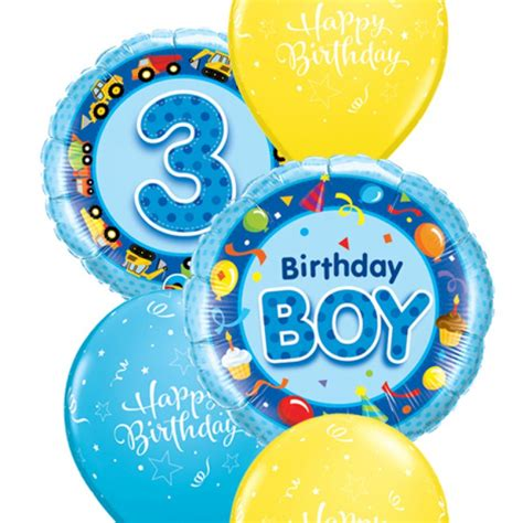 Happy Birthday Wishes For A 3 Year Boys 3rd Birthday Balloon Bouquet Party Fever
