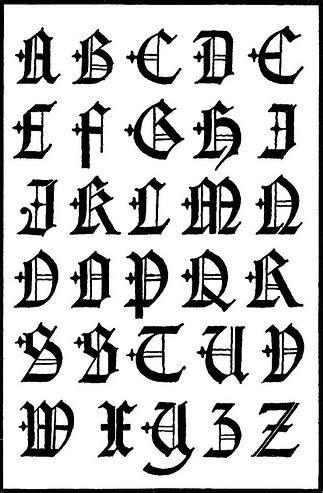 graffiti fonts gothic graffiti alphabet letters