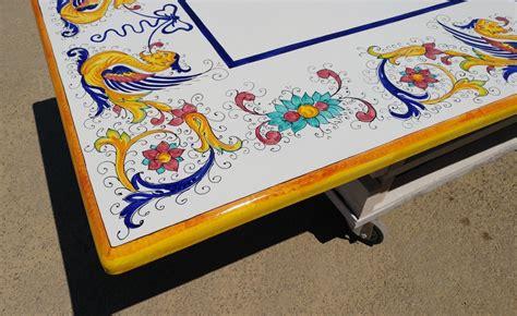tavoli deruta tavolo in pietra lavica deruta raffaellesco