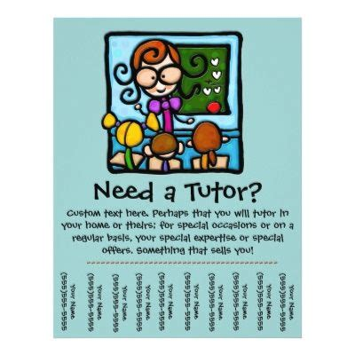 flyer tear  tabs template flyer tutoring tutor