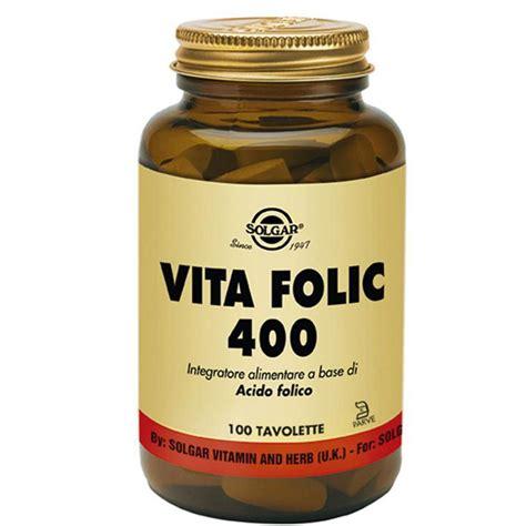 folato alimentare vita folic integratore alimentare solgar a base di acido