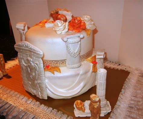 Grecian Themed Baby Shower theme baby shower cake by funfetti cakes s