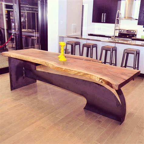 table noir et bois parota table 224 d 238 ner live edge en noyer noir bois design live edge custom made tables