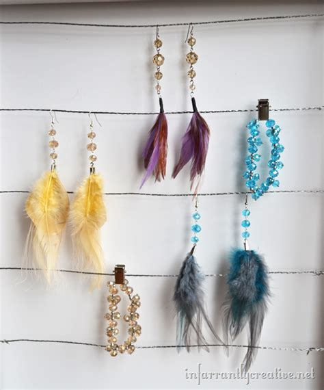 how to make feather jewelry how to make feather earrings infarrantly creative