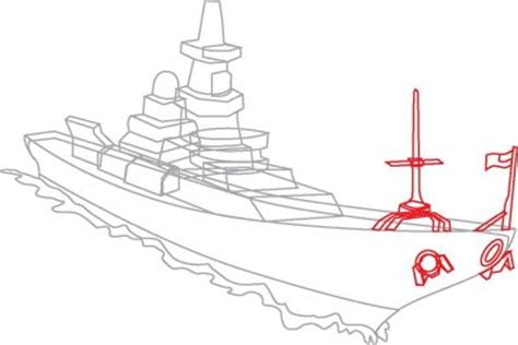 add  antenna  flag   draw navy ships