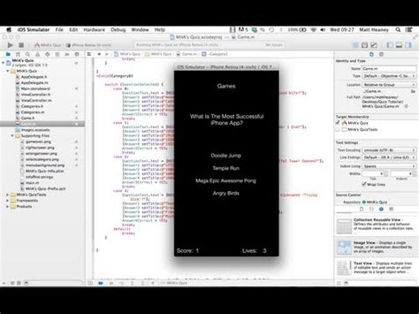 tutorial xcode game full download part 1 4 doodle jump make an iphone app in