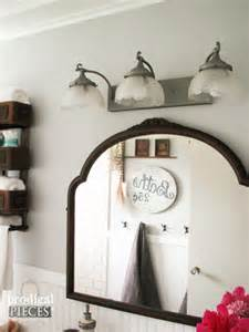 Bathroom Vanity Light Fixture Farmhouse Bathroom Remodel Reveal Prodigal Pieces