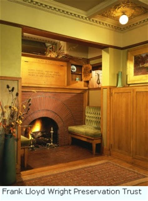 frank lloyd wright home quot inglenook quot bungalow fireplaces